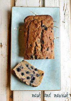 My Famous {Blueberry Banana Bread} Made Vegan/GF   Nosh and Nourish