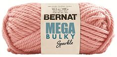 Bernat Mega Bulky Sparkle Yarn 8 Ounce Apricot Sparkle Single Ball >>> You can find more details by visiting the image link.Note:It is affiliate link to Amazon.