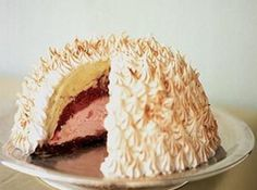 Baked Alaska..... I first learned to make this in home economics :)