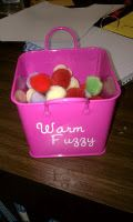 When your class gives you a warm and fuzzy feeling, add a warm fuzzy to the box. When they reach ten, give a class reward.