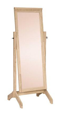 Unfinished Free Standing Hardwood Mirror