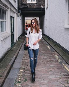 . Sporty Outfits, Chic Outfits, Trendy Outfits, Fall Outfits, Fashion Outfits, Casual Looks, Casual Wear, Ideias Fashion, Street Style