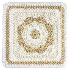 "Harriett Square 12"" by Carolyn Christmas free pattern on Ravelry"