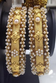 Beautiful white pearl kada Code : BAK 379 Price : 1495/- Whatsapp to 09581193795/- for order processing...