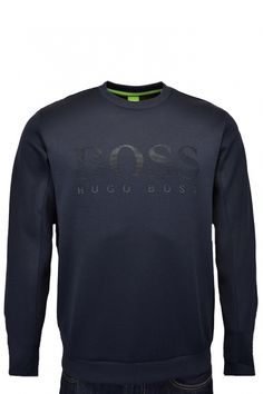 638b7b227 Hugo Boss Green Hugo Boss Green Rime Sr Jumper Navy - Hugo Boss Green from  Michael Stewart Menswear UK