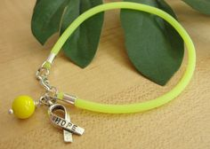 Yellow Awareness Bracelet / Anklet - Endometriosis, Spina Bifida , Bladder Cancer & More