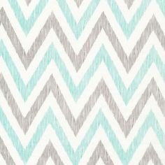 Chevrons in Minty from simpatico by Michelle Engel Bencsko for Cloud9 Fabrics.