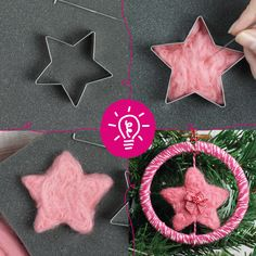 Whether you're a beginner or beyond, our weaving, cross stitch, embroidery and needle felting craft kits contain the materials and instructions you need to make your own creative project. Christmas Star, Christmas Ornaments, Craft Kits, Craft Ideas, How To Make Stars, Needle Felting Kits, 1 Place, Embroidery Kits, Felt Crafts