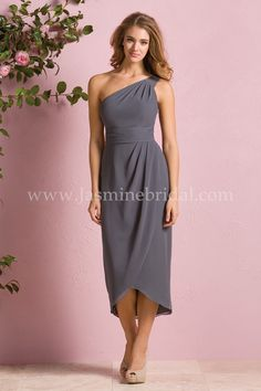 9f47ac09cb641f B173061 - This chic bridesmaid dress with high-low tulip skirt is ultra  sophisticated.