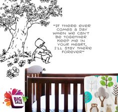Winnie the pooh quote nursery saying tree peel by ParkLaneCouture, $32.99