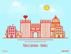 Vector Illustration of Porta Capuana, Naples (Italy) - Illustrazione di Porta Capuana, Napoli - #city #skyline #illustration #icondesign #miniature #città #cuoredinapoli