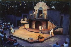 Much Ado About Nothing. Illinois Shakespeare Festival. Scenic design by Daniel Robinson.