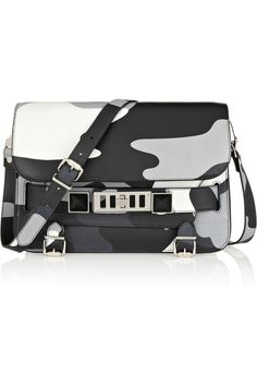 Tru Nightclub Proenza Schouler PS11 Classic Camouflage Print Leather Shoulder Bag