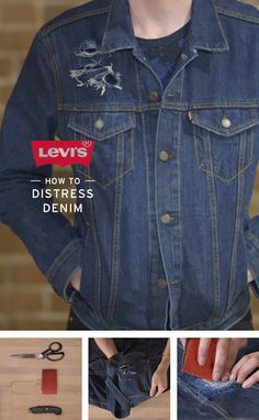 The ultimate vintage look demands faded, shredded, or even destroyed denim. Our Levi's Master Tailors show you how to DIY in our distressed denim tutorial. @levisbrand #nattyguy