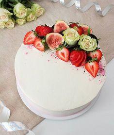 Cake Decorating Designs, Just Eat It, Fruit Tart, Cakes And More, Yummy Cakes, Eat Cake, Cake Recipes, Wedding Cakes, Food Porn