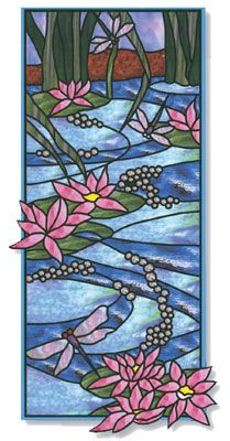 Uroboros Garden Variety Glass Pack dragonflies among lilly pads