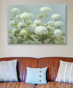 Look at this White Hydrangea Garden Wrapped Canvas on #zulily today!