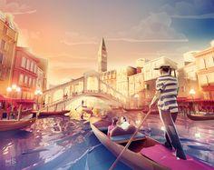 LowPoly World Illustration: Destinations around the World   HeyDesign