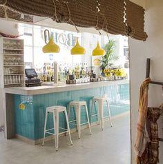 Artwork For Home Decoration Coffee Shop Interior Design, Coffee Shop Design, Bar Interior, Restaurant Interior Design, Home Design Decor, Cafe Design, Home Decor, Surf Cafe, Boho Bar