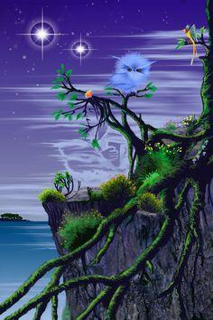 Digital Painting, inspirée from a fantasy novel Northern Lights, Aquarium, Novels, Angel, Fantasy, Digital, World, Nature, Travel