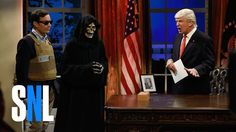 Donald Trump Cold Open - SNL. President Donald Trump (Alec Baldwin) looks back on his first 100 days with Vice President Mike Pence (Beck Bennett) and chooses between advisors Steve Bannon and Jared Kushner (Jimmy Fallon).