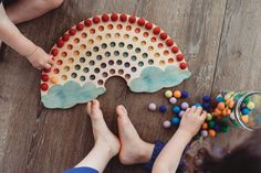 Diy Montessori Toys, Montessori Classroom, Montessori Toddler, Montessori Color, Montessori Bedroom, Toddler Toys, Wooden Rainbow, Wood Toys, Wooden Baby Toys