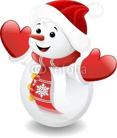 Vettoriale: Pupazzo di Neve Bambino-Baby Snowman-Vector