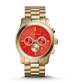 Michael Kors Runway Orange Watch, Dillards