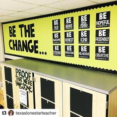 @texaslonestarteacher is a ROCKstar. I need this in my classroom STAT. @texaslonestarteacher with @repostapp ・・・ Good news y'all...I finally got the right letter up there! (see the previous post) I'm so excited about this wall, and the conversations and activities we'll have centered around it. The message is that if they want to live in a world of honesty (and so on), then they need to be honest themselves. The change starts here. #bestclassroomever #bethechange