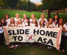 Slide Home to ASA #AlphaSigmaAlpha #ASA #BidDay #baseball #sorority