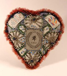 antique beaded pincushion    Pin cushion made by Royal Welch Fusiliers prisoners of war, 1914-18