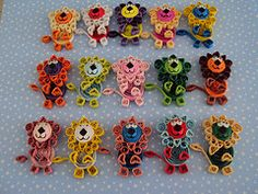 Quilling Animals. (Aren't these adorable?)