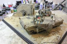 The stowage on the Abrams TUSKII in 1/35 scale