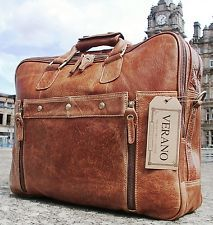 LEATHER DUFFLE BRIEFCASE
