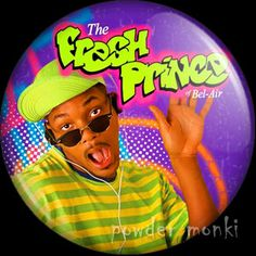 Retro Kids TV Badge/Magnet - The Fresh Prince of Bel-Air ~ www.powdermonki.co.uk ~