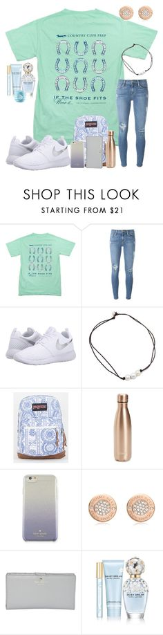 """""""1/25/17"""" by ctrygrl1999 ❤ liked on Polyvore featuring Southern Proper, Frame, NIKE, JanSport, S'well, Kate Spade, Michael Kors, Marc Jacobs and Eos"""