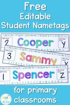 33 best name tags for desks images desk name tags classroom setup rh pinterest com