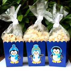 Penguin Winter Party Goodie Boxes Set of 12 by PaperPartyParade, $12.00