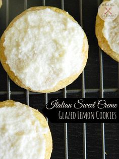 Italian Sweet Creme Glazed Lemon Cookies