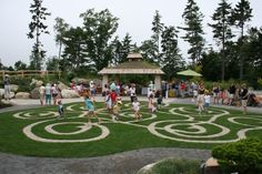 m says: beautiful spiral garden maze at the new bibby and harold alfond children's garden in maine