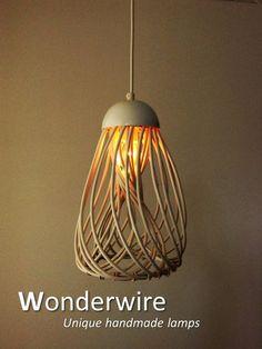 Een persoonlijke favoriet uit mijn Etsy shop https://www.etsy.com/listing/288657923/wiretwister-white-medium-pendant-lamp