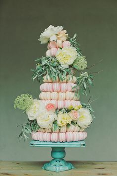 pretty macaroon tower