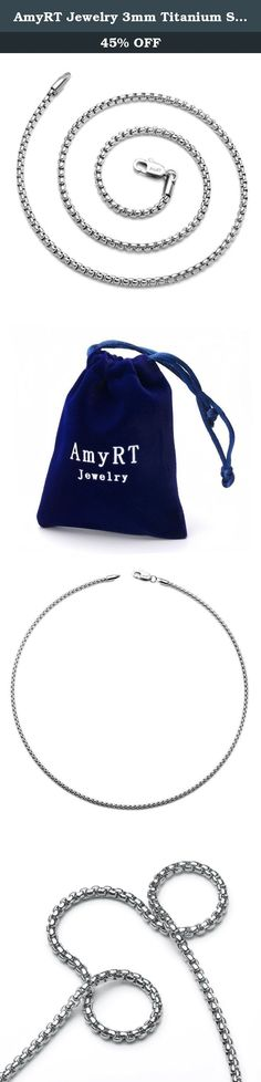 "AmyRT Jewelry 3mm Titanium Steel Rolo Silver Chain Necklaces for Men & Women 16"". AmyRT Jewelry 3mm Titanium Steel Rolo Silver Chain Necklaces for Men & Women 16"" AmyRT Jewelry is defined by Italian elegance, style and quality. This necklace will coordinate with any woman's wardbrobe.Made of fine 316L titanium steel. Why choose titanium jewelry? Firstly, titanium jewelry shares many common virtues with silver and white gold jewelry, they are all hypoallergenic and have similar color…"