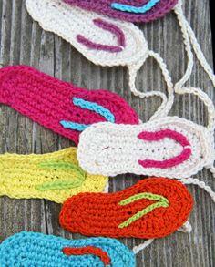 Flip Flop garland crochet