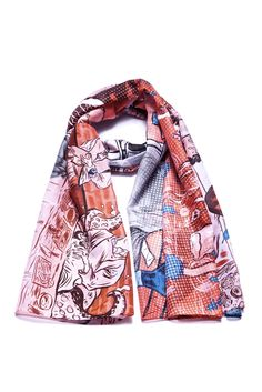 New! Your scarf designed by Spanish illustrator Rafael Alvarez in a fine cotton-silk blend.