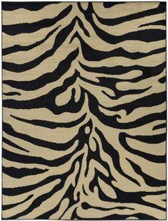 "Royal Collection Animal Print Zebra Design Area Rug Area Rug Color Black Ivory (5'3""X7'0"") Ottomanson http://www.amazon.com/dp/B00EPORR7G/ref=cm_sw_r_pi_dp_Krr9ub0JKKEAT"