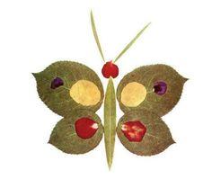 Lavoretto Foglie Autunnali Farfalla