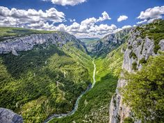"""Gorge du Verdon is often referred to as the """"Grand Canyon of France."""" And although it might be smaller than its American counterpart, it certainly doesn't fall short in terms of beauty. The 2,300-feet-deep valley was formed by the Alpine Verdon River, a dazzling turquoise stream that flows into the artificial Lac de Sainte-Croix. Hiking and horseback riding trails weave throughout the vertical limestone cliffs, connecting tiny villages and offering once-in-a-lifetime views."""