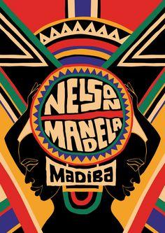 Mandela Poster Project, Part I Nelson Mandela, African American Artist, African Art, Arte Mandela, Reggae Art, Kunst Poster, African Design, Pop Art, Street Art