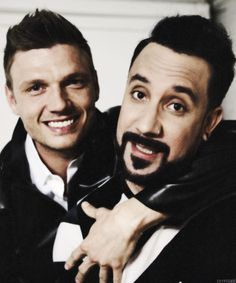 Nick Carter and AJ Mclean from Backstreet Boys
